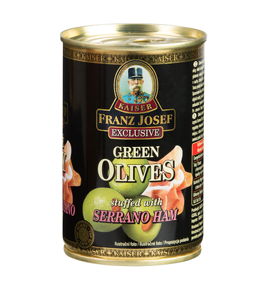Green Olives Stuffed with Serrano Ham 300g