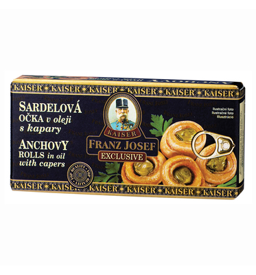 Anchovy Rolls in Oil with Capers 45 g