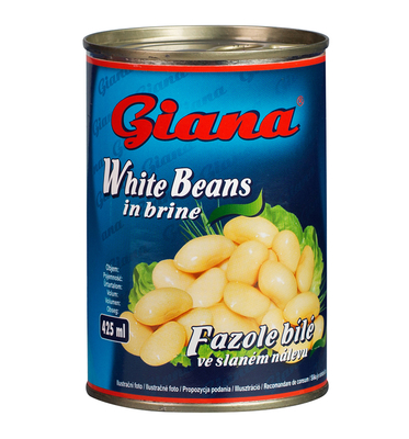 White Beans in Salted Brine, 425ml