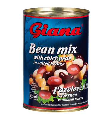 Bean Mix with Chickpeas in Salted Brine, 425ml