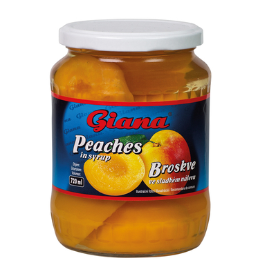 Peaches in syrup 720ml