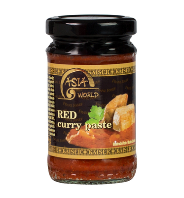 Red curry hot paste with chili 114g