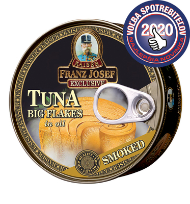 Tuna big flakes in sunflower oil with smoked flavour 170g