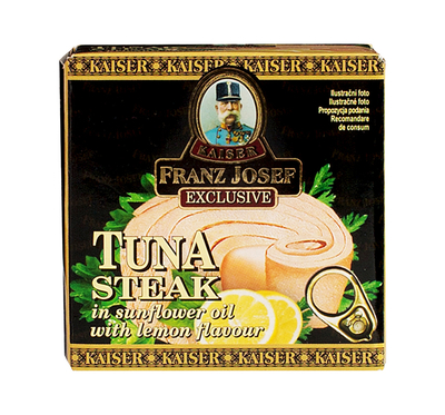Tuna Steak in Sunflower Oil with Lemon Flavour 80g