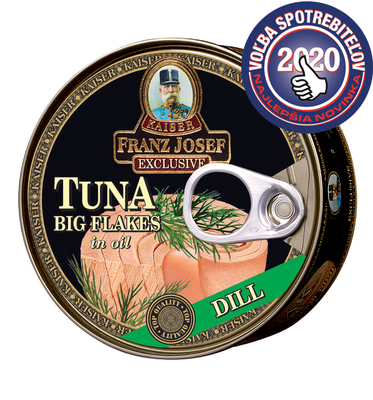 Tuna big flakes in sunflower oil with dill 170g